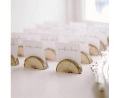 Healifty Holz Runde Pfahl Form Tischnummer Halter Clip Foto Halter Tischkarte Halter Platzkartenhalter 10 Stück