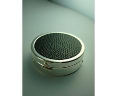 Brillibrum Design Aschenbecher für die Tasche inklusive Gravur mit Spiegel Reiseaschenbecher mit Zigaretten Halter Ascher to Go mit Namen personalisiert