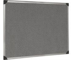 5 Star Premier Pinnwand mit Halterung und Aluminiumrahmen 900x600mm grau