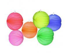 Boland 30420 30420-Globo Laterne, verschiedene Farben, 1 Stück, 22 cm