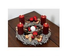 Oppacher Advent® Adventskranz bordeaux classik Weihnachtskranz inklussive Kerzen Durchmesser circa 40 cm Höhe circa 18 cm