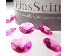 100x Diamantkristalle 12mm pink EinsSein® Dekoration Dekosteine Diamanten Diamantkristalle Streudeko Konfetti Tischdeko Hochzeit