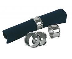 APS 4er Set Edelstahl Serviettenringe, Durchmesser 4,5 cm, Höhe 2,5 cm, hochglanzpoliert