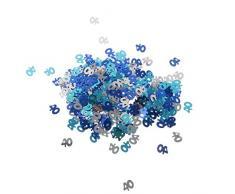 MagiDeal Jahrestag Geburtstag Weihnachten Hochzeit Party Mettalic Confetti Tischdeko Konfetti - Blau+Silber 40