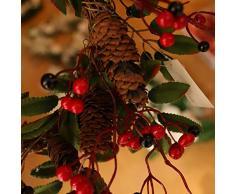 Vosarea Weihnachtskranz Weihnachtsgirlande mit Tannenzapfen Weihnachten Türkranz Wandkranz Türdeko Wanddeko Fensterdeko Weihnachtsdeko Kranz Girlande