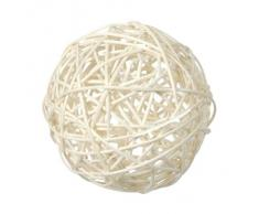 Rattankugeln sortiert altweiss/creme, 3 + 4 + 7 cm, 10 Stück, Dekokugeln Tischdeko