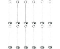 Hohiya Tischnummernhalter, Tischkartenhalter, Ständer für Hochzeiten, 30,5 cm hoch, Silber, 12 Stück