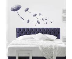 Your Design Wandtattoo Pusteblume im Wind - 100 x 35cm (BxH) - Schwarz , pfl-170-kl-Schwarz