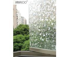 rabbitgoo Fensterfolie 3D Folie für Fenster Dekorfolie Sichtschutzfolie Statisch Glasfolie Selbsthaftend Anti-UV Stein 60 x 200 cm