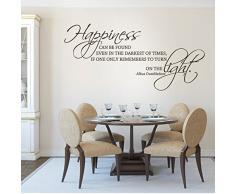 Movie quotes Wandsticker Wandtattoo Harry Potter, für Wohnzimmer, Zitat Happiness können finden Sie auch In der dunkelsten Times..., Vinyl, schwarz, 27hx57w