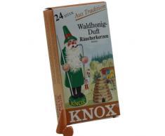 24 original KNOX Räucherkerzen Waldhonig - Duftkegel für Räuchermännchen - Räuchergefäß - Camping - Party - einfach überall