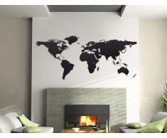 Bilderdepot24 Wandtattoo Wandaufkleber - Weltkarte 144x59cm - Qualitätsware direkt vom Hersteller