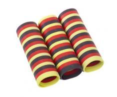 Papstar 10x3 3 Luftschlangen 4 m schwarz/rot/gelb schwer ent