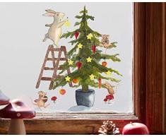 TinyFoxes Fensterbild Christbaum - wiederverwendbar und ohne Kleber - 35 x 39 cm