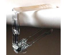 Tischtuchklammern Kunststoff transparent verschiedene Stückzahlen verfügbar Tischklammer Tischdeckenklammer (50 Stück)