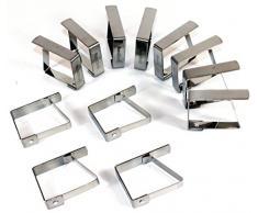 Tischtuchklammer Edelstahl 12 Stück -K&B Vertrieb- Tischdeckenklammer Tischdeckenhalterung Tischklammer Tischtuchklammern 470