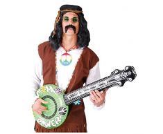 Aufblasbares Banjo Hippie Style Flower Power Gitarre Luftgitarre 83cm