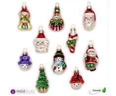 10 Stk. Christbaumkugeln Figuren 4 - 5cm Glas mini Set // Dekokugeln Weihnachtskugeln Baumkugeln Baumschmuck Deko