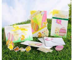 Your Design Klappkarten: Osterkarten-Bastelset für 5 Karten mit Umschlag (Grußkarten)