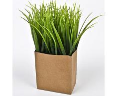 Dadeldo Gras Deko Kunstblume Kunstpflanze Tischdeko