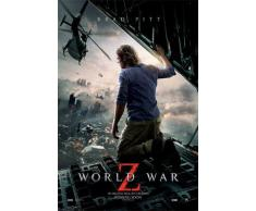 1art1 67065 World War Z Poster - Brad Pitt, Kinoplakat, 91 x 61 cm