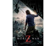 1art1 67065 World War Z Poster - Brad Pitt, Kinoplakat, 91 x 61 cm