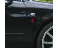 Rose 6cm Auto Fenster Spiegel Aufkleber Tattoo die cut vinyl selbstklebende Deko Folie Depeche Mode (2 Stück rot)