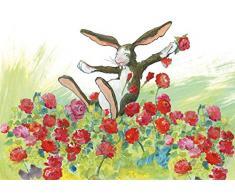 Postkarte A6 • 37010 Rosenhase von Inkognito • Künstler: Angela Holzmann • Ostern
