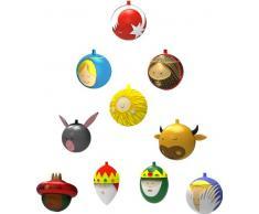 Alessi Weihnachtskugeln, Porzellan, Bunt, 5.6 x 3.16 x 3.3 cm, 10-Einheiten