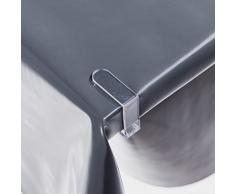 haga-wohnideen.de 4 Stück Tischtuchklammern Transparent Tischdeckenhalter Tischdeckenklammern