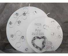 Hochzeitskerze Kerze Hochzeit Traukerze Sonderform 16648