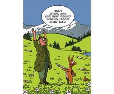 Postkarte A6 • 19117 Jägerschnitzel von Inkognito • Künstler: Tetsche • Satire • Cartoons • Ostern