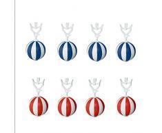 Home Xpert 8er Tischtuchanhänger-Set blau/weiß rot/weiß Tischdeckenbeschwerer extra schwer