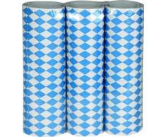 Boland 54213 3 Rollen Luftschlangen Bayern, Blau/Weiß