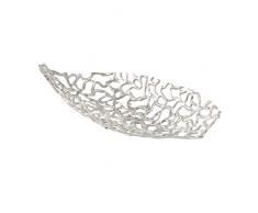 Boltze Deko-Schale Fidan Silber Aluminium (44cm oval)