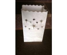 10 Stück Lichttüten, Lichtertüten Stern- für Teelichter - Passend auch zu Weihnachten