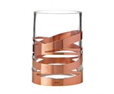 Stelton 16,5 cm-medium Tangle Vase, Edelstahl, Weiss, 12 x 12 x 17 cm