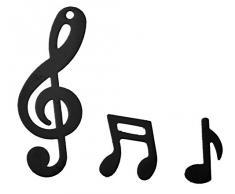 Notenschlüssel Konfetti Streudekoration black Musik Music Notenschlüssel Noten Dekoration