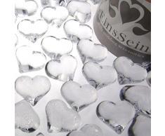 30x Dekosteine Herzen 22mm EinsSein® klar Dekoration Streudeko Konfetti Tischdeko Hochzeit
