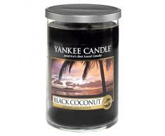 Yankee Candle Black Coconut Stumpenkerze, schwarz, mittel