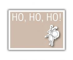 1 Weihnachtskarte: Ho, Ho, Ho! Die Weihnachtskarte mit einem kleinen Weihnachts Elch