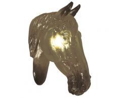 """Naeve Leuchten Deko-Wandleuchte """"Pferd"""" / exklusiv Leuchtmittel / b-14 cm / h-38 cm / Ausladung-30 cm / braun / Kunststoff 1062314"""