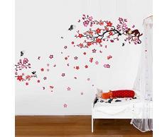 Walplus - COM Wandaufkleber Affe Baum Wandtattoo Sticker Papieraufkleber Kunst Dekoration Wohnzimmer Blüten Blumen Familie
