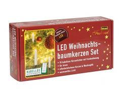 Idena LED Christbaumkerzen, 10er Set, kabellos, ca. 12 cm, inklusive Fernbedienung und Energizer Premium Alkaline Batterien, 10112551