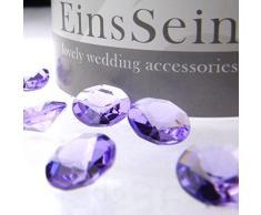 100x Diamantkristalle 12mm flieder EinsSein® Dekoration Dekosteine Diamanten Diamantkristalle Streudeko Konfetti Tischdeko Hochzeit