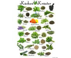 1art1 115321 Kochkunst - Küchen-Kräuter Kunstdruck 50 x 40 cm