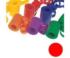 Luftschlange unifarben, Standardmaß, rot