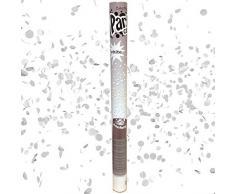 NEU Konfetti-Shooter, Weiß-Flitter, ca. 60 cm