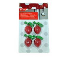 4 Tischtuchbeschwerer / Erdbeermotiv