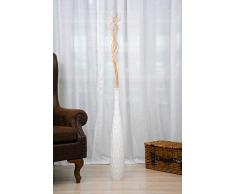 Leewadee Große Bodenvase für Dekozweige hohe Standvase Design Holzvase, 13x75 cm, Holz, Weiß